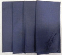 Cloth Napkins Country Blue Lot of 4 Eastern Shore Of Virginia VA Embroidery - $13.69