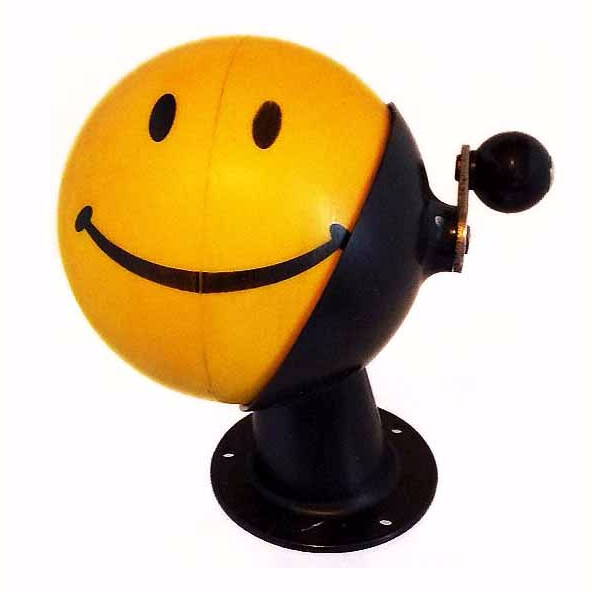 BEROL Golden Yellow 1960s HAPPY FACE Pencil Sharpener Great Novelty Collectible Bonanza