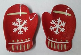 HALLMARK HOLIDAY MITTEN CANDY/SNACK DISHES - SET OF 2 - $19.99