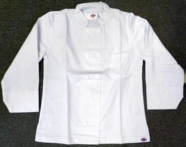Dickies Chef Coat Jacket SM CW070309A Restaurant Button Front White Unif... - $21.75