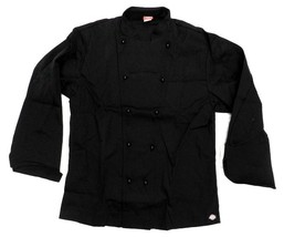Dickies Executive Chef Jacket 52 Black CW070302C Restaurant Uniform Coat... - $24.47