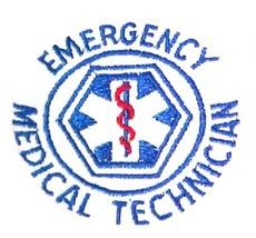 EMT Crew Neck Sweatshirt L White Emergency Medical Technician Star of Li... - $26.43