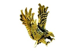 Eagle Gold Plated Bird Double Clutch Back Costu... - $29.07