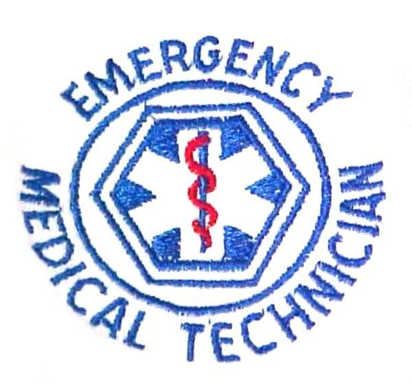 EMT T Shirt 2XL Emergency Medical Technician White Short Sleeve Blend Star New