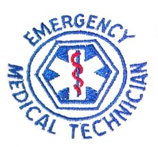 EMT T Shirt 2XL Emergency Medical Technician White Short Sleeve Blend St... - $24.47