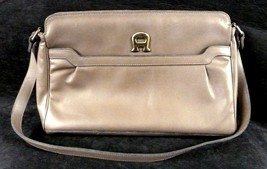 Etienne Aigner Taupe Tan Brown Leather Handbag Shoulder Purse Bag - $58.17