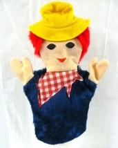 Farmer Yellow Hat Red Bandana Hand Puppet Play Imagination Sheram Unisex... - $12.71