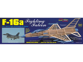 Guillow's F-16 Fighting Falcon Balsa Wood Model Airplane  GUI-1403 - $40.00