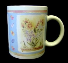 Hallmark Easter Egg Mug Spring Pastel Flower Floral Planter Box Heart Coffee Cup - $15.49