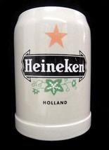 Heineken Holland Brewery Red Star 0.5L Ceramic Gray Stoneware Beer Stein... - $39.17