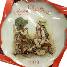 Holly Hobbie Plate 1979 Merry Christmas Commemorative Collector Packaged Vintage - $24.22