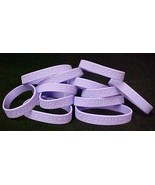 Lavender Awareness Bracelets Lot of 50 Silicone Jelly General Cancer IMP... - $31.98