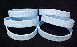 Light Blue Awareness Bracelets Lot of 50 Scleroderma Silicone IMPERFECT ... - $25.45