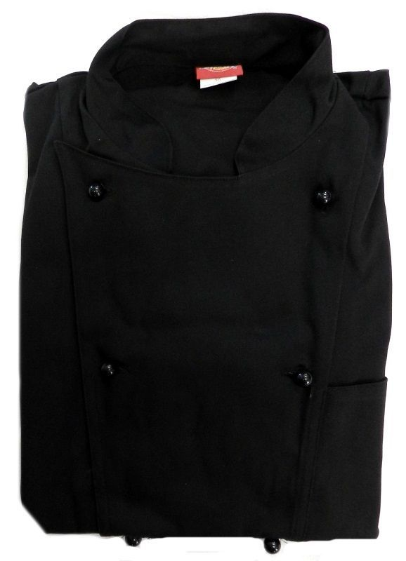 Dickies Executive Chef Jacket 52 Black CW070302C Restaurant Uniform Coat New