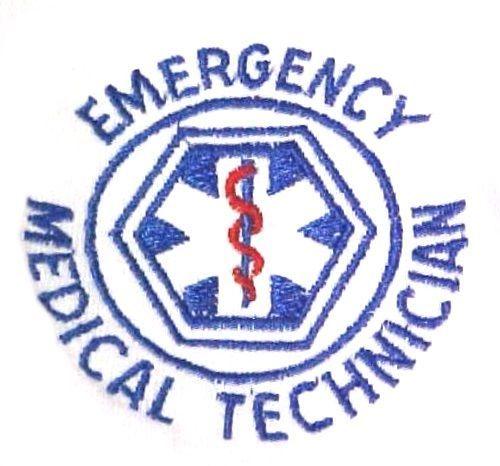 EMT T Shirt XL Emergency Medical Technician White Short Sleeve Blend Star New