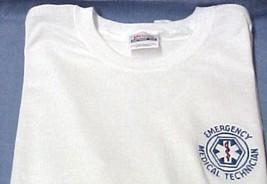EMT T Shirt L Emergency Medical Technician White Short Sleeve Blend Star New image 4