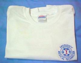 EMT T Shirt L Emergency Medical Technician White Short Sleeve Blend Star New image 5