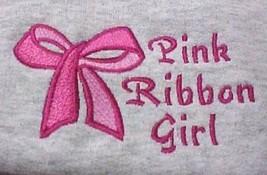 Pink Ribbon Girl Bow 4XL Hoodie Sweatshirt Breast Cancer Awareness Gilda... - $35.86