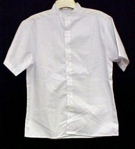 Profiles Star Chef Server Med Restaurant White Button Up Short Sleeve Sh... - $16.63