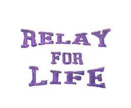Purple Relay for Life T Shirt Large Walk White S/S Cancer Awareness Unis... - $19.57