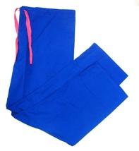 Scrub Pants XL Royal Blue Unisex Drawstring Best Textiles Uniforms Medical New - $14.52
