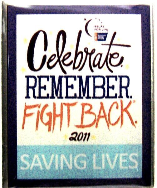 Primary image for Relay Life Lapel Pin Tac Cancer Survivor Celebrate Remember Fight Back 2011 ACS