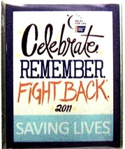 Relay Life Lapel Pin Tac Cancer Survivor Celebrate Remember Fight Back 2... - $12.58