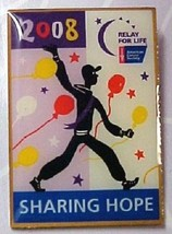 Retired Relay for Life ACS Sharing Hope 2008 Gold Cancer Awareness Pin Tac New - $12.58