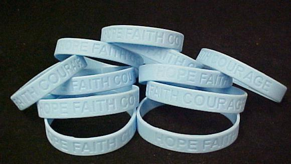 Light Blue Awareness Bracelets Lot of 100 Scleroderma Silicone IMPERFECT Cancer