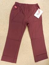 Scrub Pants Dickies 54305 MHY Boot Cut Elastic Medical Uniform Brown L New - $19.77