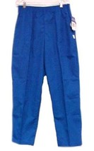 Scrub Pants Medium Royal Blue Crest Uniforms Elastic Waist Poly Cotton 1... - $13.55