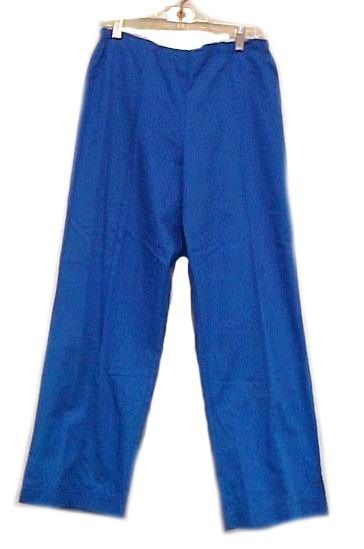 Scrub Pants Scrubs Small Royal Blue Crest Slim Fit Cut Cotton Blend 161 New