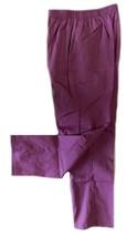 Scrub Pants Small Plum Double Cargo Pocket White Swan Purple Uniform 160... - $13.55