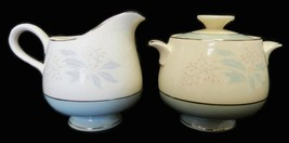 True Romance Eggshell Cream Pitcher Sugar Dish Set Homer Laughlin Rare Vintage - $29.37