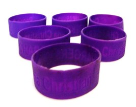 Peoria IL Christian Chargers Bracelets School Pride Jelly Silicone 6 Purple New image 4