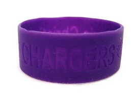 Peoria IL Christian Chargers Bracelets School Pride Jelly Silicone 6 Purple New image 3
