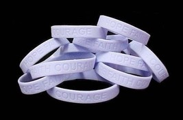 """Periwinkle Awareness Bracelets Lot of 12 Jelly Silicone Wristband 8"""" IMPERFECT image 3"""