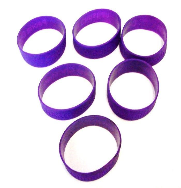 Peoria IL Christian Chargers Bracelets School Pride Jelly Silicone 6 Purple New