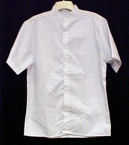 Profiles Star Chef Server Med Restaurant White Button Up Short Sleeve Shirt New