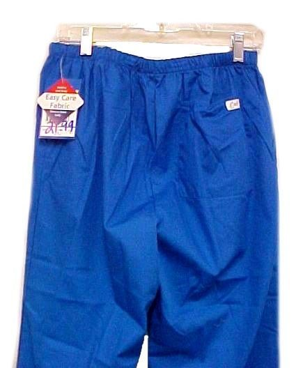 Scrub Pants Scrubs Small Royal Blue Crest Slim Fit Cut Cotton Blend 161 New image 4