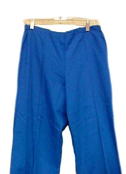 Scrub Pants Scrubs Small Royal Blue Crest Slim Fit Cut Cotton Blend 161 New image 5