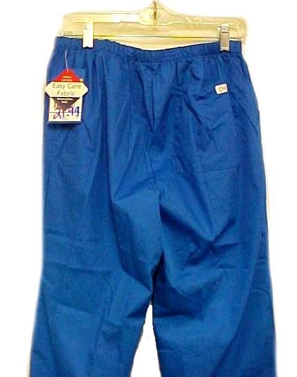 Scrub Pants Scrubs Small Royal Blue Crest Slim Fit Cut Cotton Blend 161 New image 2