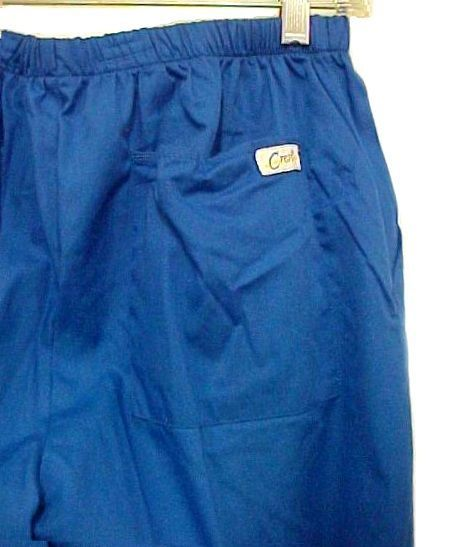 Scrub Pants Scrubs Small Royal Blue Crest Slim Fit Cut Cotton Blend 161 New image 3
