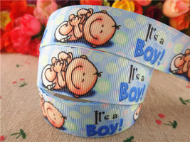 8 22mm 10 yards baby boy printed grosgrain ribbons cartoon ribbon hair accessories tape thumb200