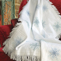 White 16ct Evenweave Throw Afghan 32x44 100%vcotton Zweigart  - $18.00