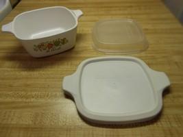 corningware casserole dish with 2 covers individual casserole dish with cover - $9.45