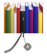 Compass Pewter Emblem Pattern bookmark for books organisers codeWS12 - $10.38