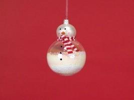 """Snowman Ornament 6.25"""" Glass [Kitchen]"""