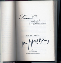 Ray Bradbury FAREWELL SUMMER first, as new, hardback, SIGNED - $77.42