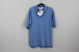 New Tommy Hilfiger Mens Small Buzz Off Insect Shield Short Sleeve Golf Polo Blue - $18.76